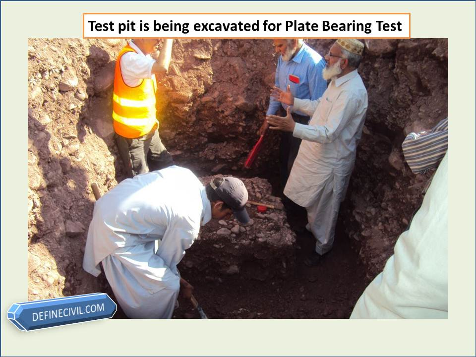 Test pit is being prepared