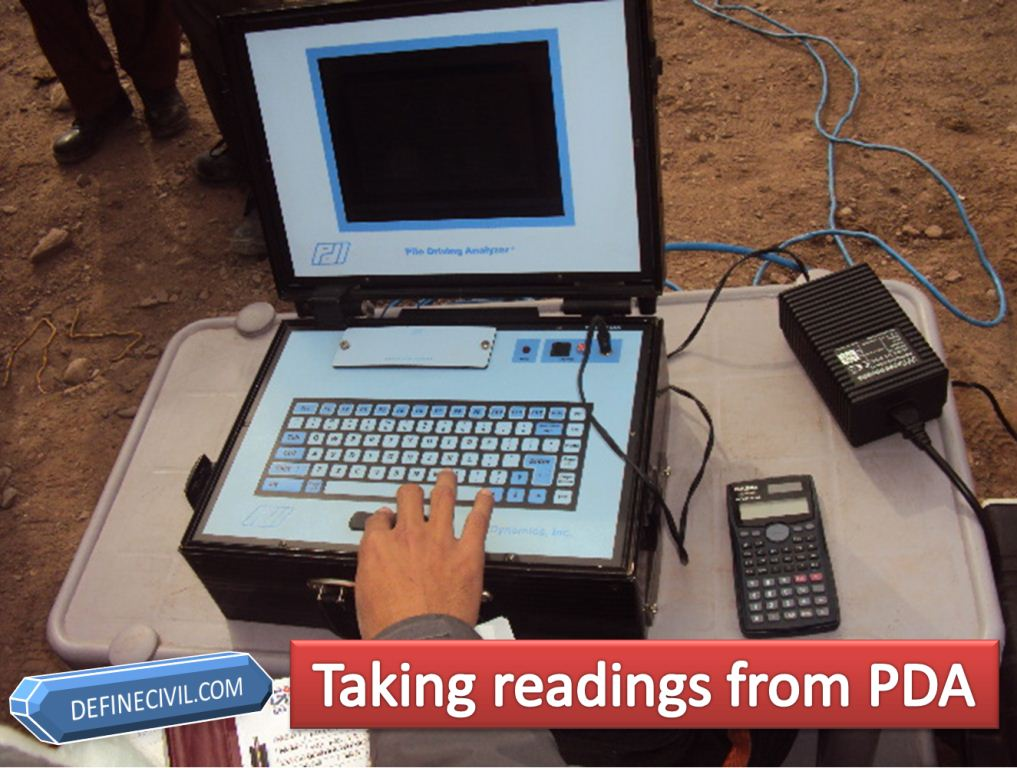 Readings from PDA Pile Testing