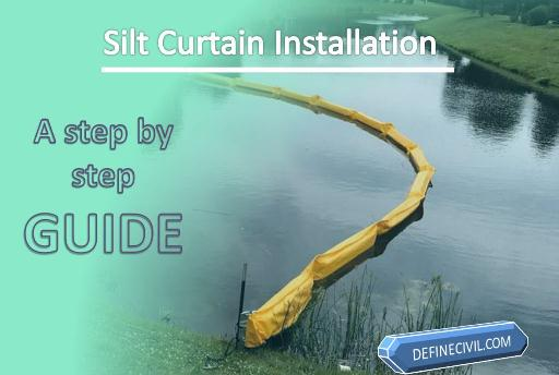 Silt Curtain Installation