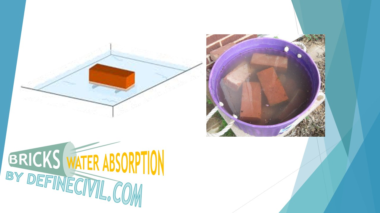 Water Absorption Properties of Bricks