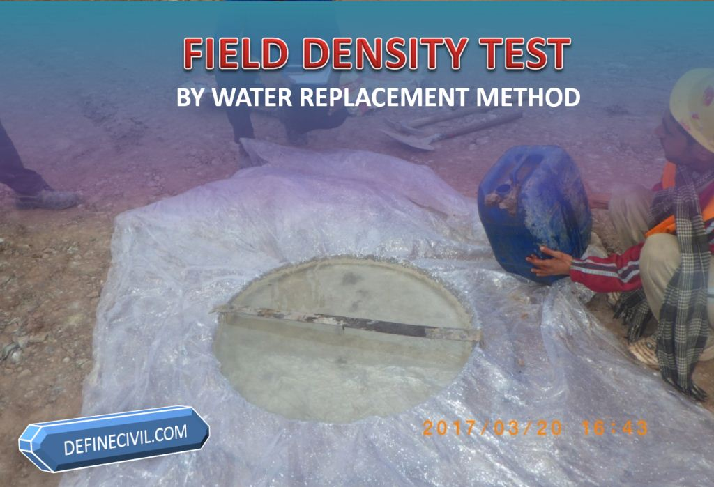 Field Density Test by Water Replacement Method