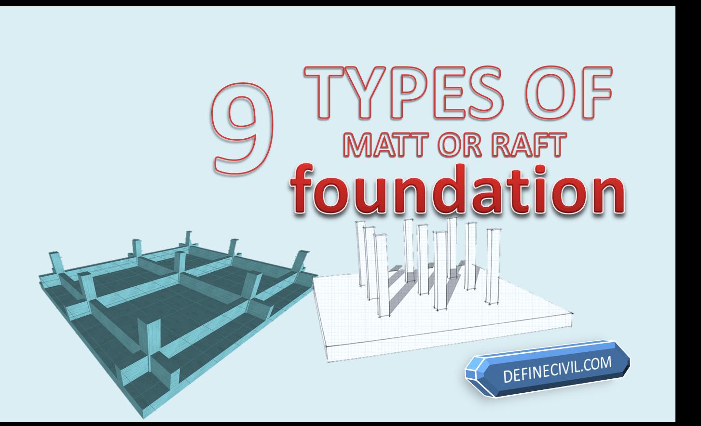 Raft foundation Types