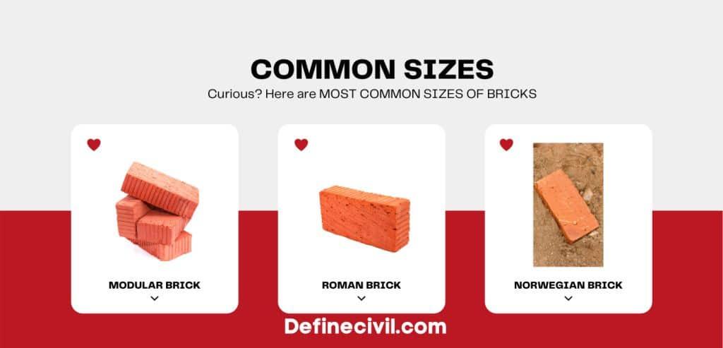 Different dimensions of Bricks