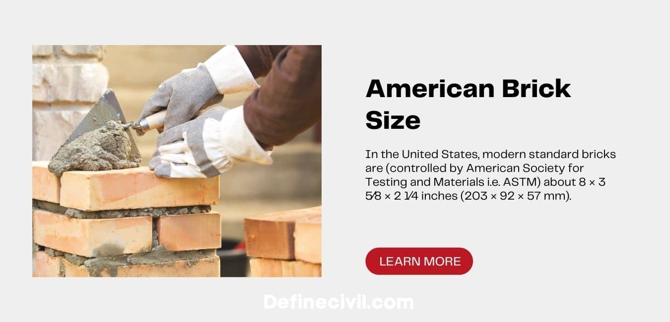 Standard Size of Bricks in America
