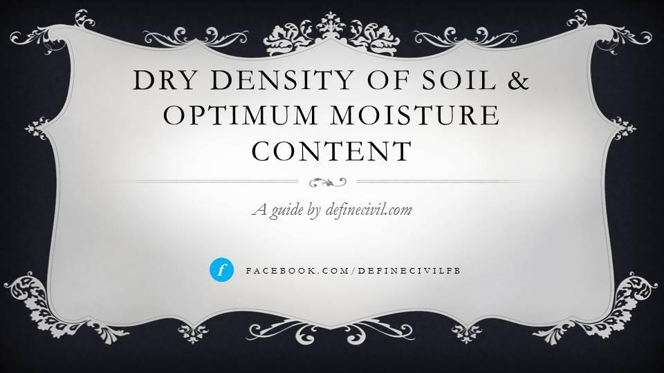 Maximum Dry Density of Soil