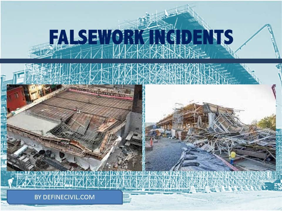 Reasons of falsework collapse