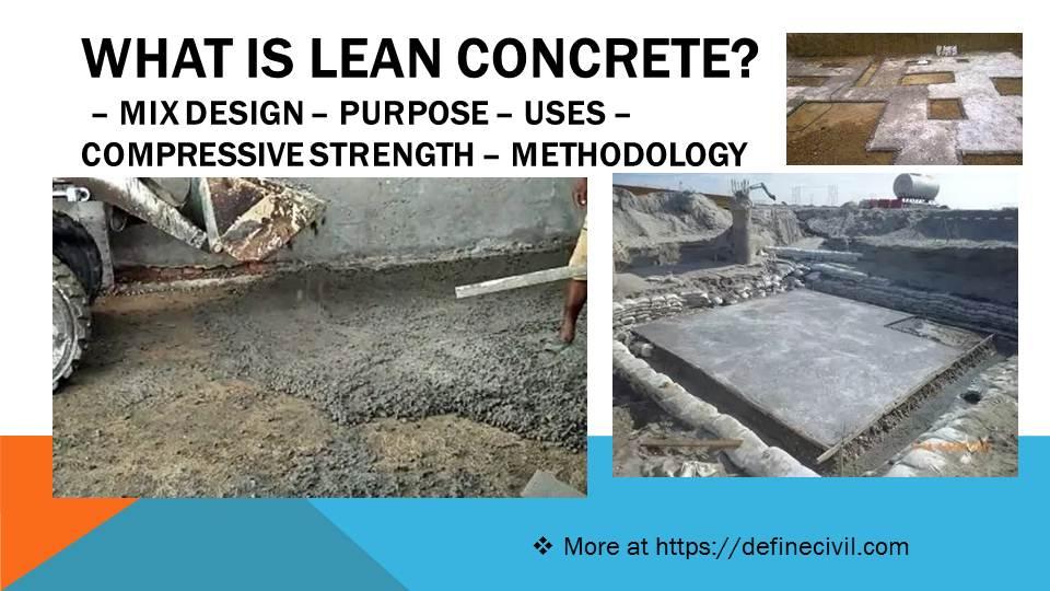 What is lean concrete