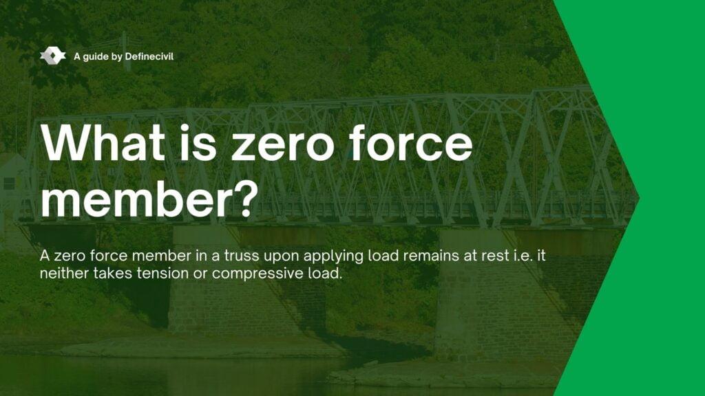 Definition of Zero Force Member