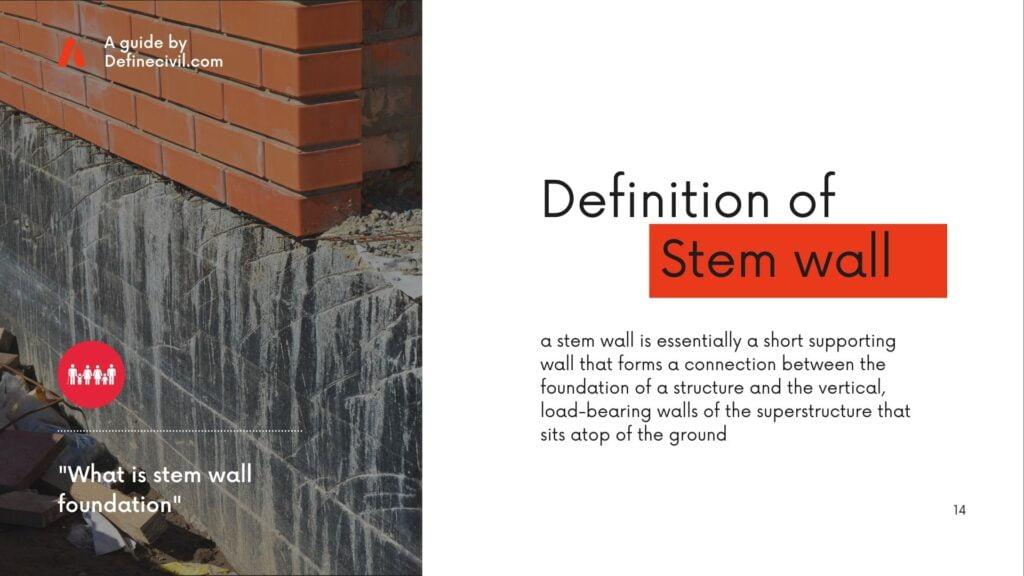 Stem wall foundation definition