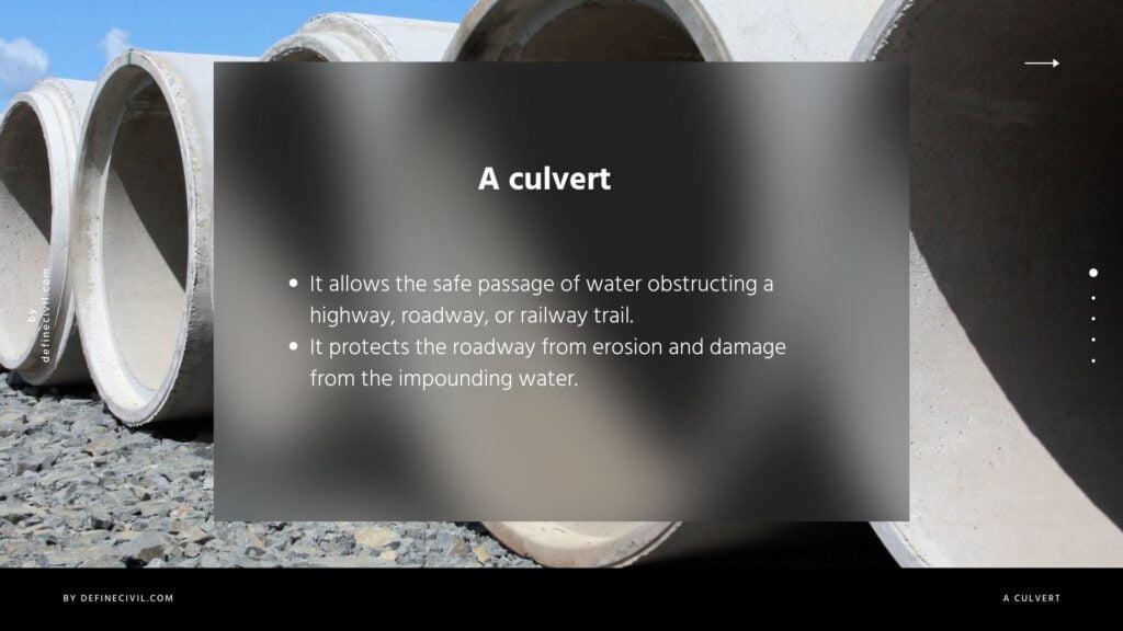 Purpose of Culvert